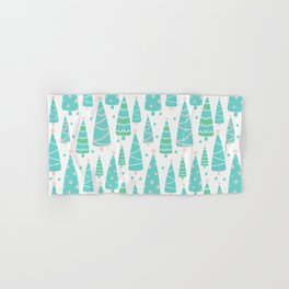 Pastel Christmas Tree Forest Hand & Bath Towel