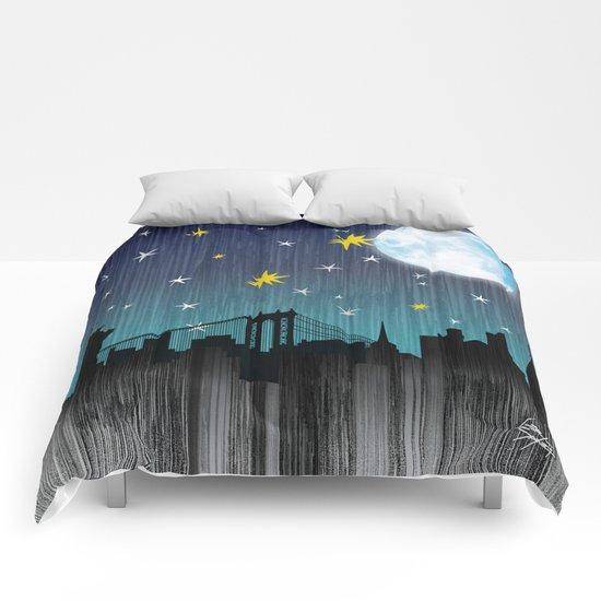 Starry Night Over Manhattan Comforters
