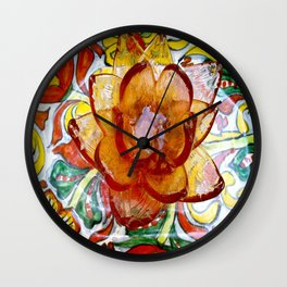 the crystal flower and multiple colors Wall Clock