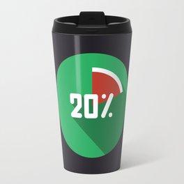 "Illustration ""percentage - 20%"" with long shadow in new modern flat desig Travel Mug"