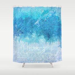 Abstract textured Teal blue Art Shower Curtain