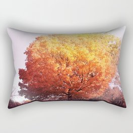 Burning Tree Rectangular Pillow