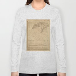 Vintage Map of Hyannis Harbor MA (1850) Long Sleeve T-shirt