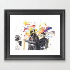 Darth Vader Pointing Leia Star Wars Movie Scene Framed Art Print