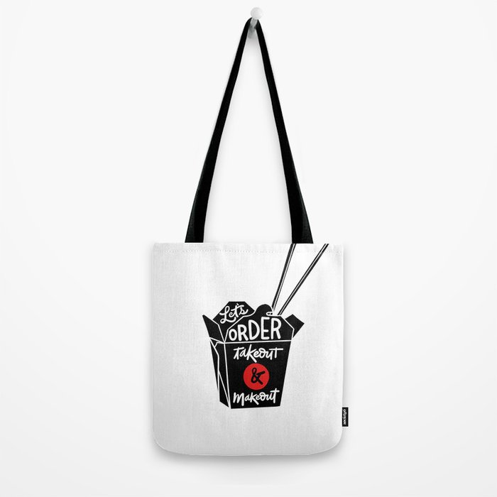 takeout & makeout Tote Bag