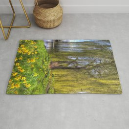 Daffodils and Willow Tree Rug