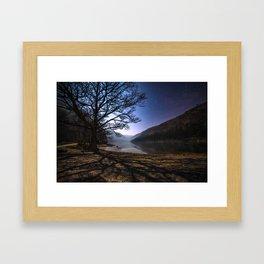 Night sky in Glendalough, Wicklow Mountains - Ireland Print (RR 266) Framed Art Print