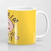 charlie brown Mugs featuring CHARLIE BROWN by Josh LaFayette