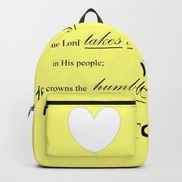 Humble Victory - Psalms 149:4 Backpack