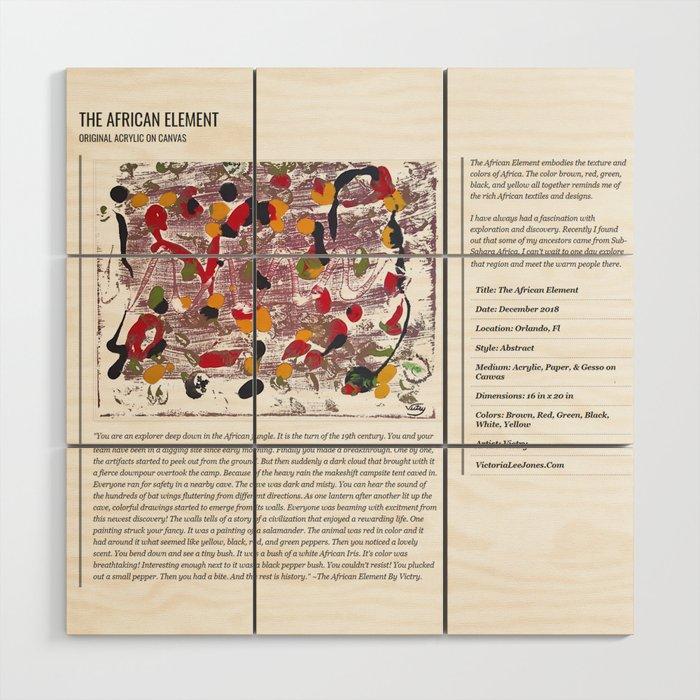 The African Element / Art Stories Wood Wall Art