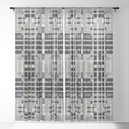 MEDLEY grey off-white art deco motif design Sheer Curtain