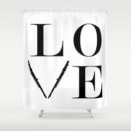 Flute love Shower Curtain