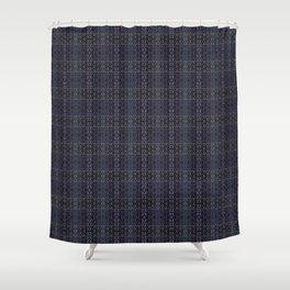 Backsplash Square Glass Spirals Shower Curtain