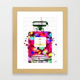 Eau de Parfum Bubbles Framed Art Print