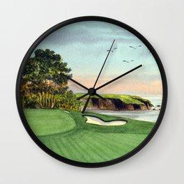 Pebble Beach Golf Course 5th Hole Wall Clock