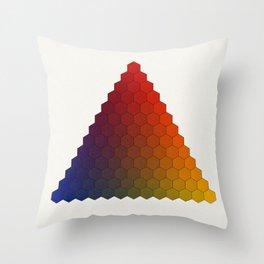 Lichtenberg-Mayer Colour Triangle variation, Remake using Mayers original idea of 12+1 chambers Throw Pillow