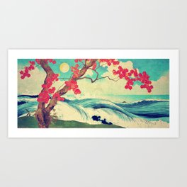 Waking to the Wild and Beautiful Ocean of Dhin Art Print
