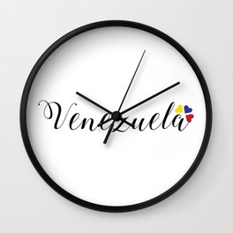 Venezuela lettering design Wall Clock