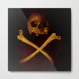 Pirate Skull Metal Print