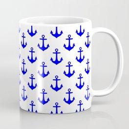 Anchors (Blue & White Pattern) Coffee Mug