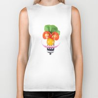 vegetables Biker Tanks featuring Happy Vegetables by Chantal Seigneurgens