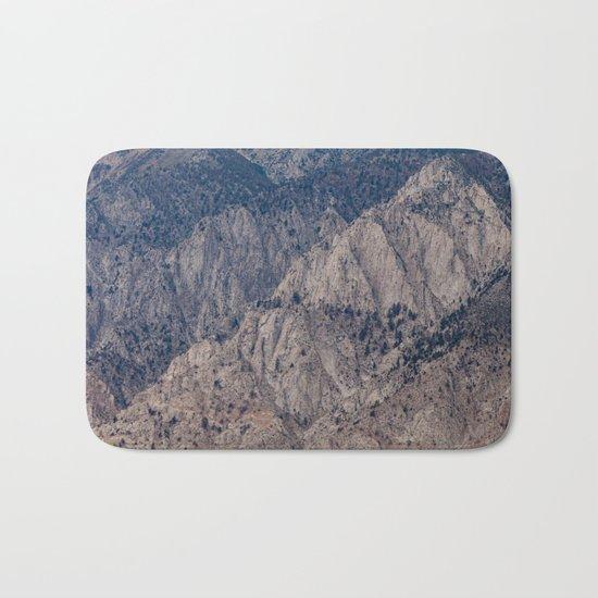 Mountain Layers (Eastern Sierra Nevadas, California) Bath Mat