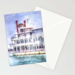 New Orleans Paddle Steamer Art Stationery Cards