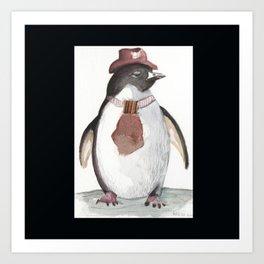 Sarcatic penguin Art Print