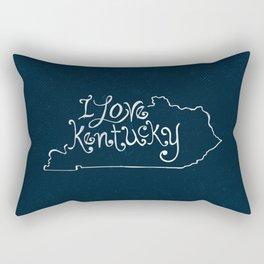 I Love Kentucky in White Rectangular Pillow