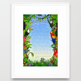 Tale-on-a-poster / A Day At The Rainforest Framed Art Print