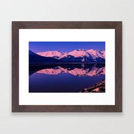 Rose Alpenglow Framed Art Print