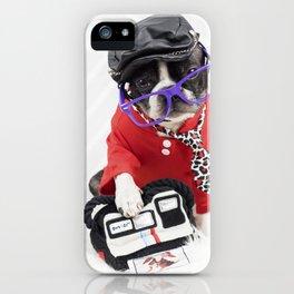 Boston Terrier Photographer iPhone Case