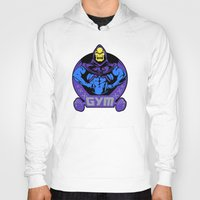 gym Hoodies featuring Skeletor's gym by Buby87