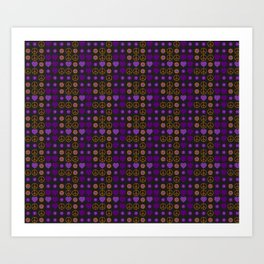 Halloween Peace Holiday Weave Art Print
