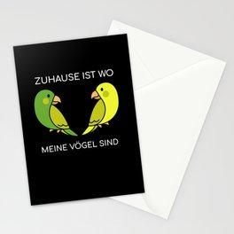 Zuhause ist wo meine Vögel sind - Wellensittich Papagei süß Stationery Cards