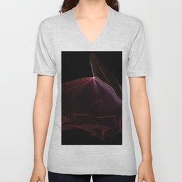 A Semi-transparent Merlot Aurora String Theory # 9 Unisex V-Neck