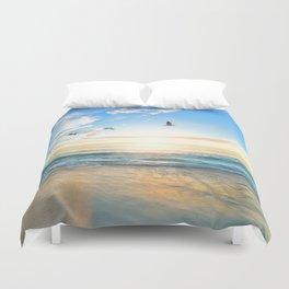 Blue Sky with Birds Duvet Cover