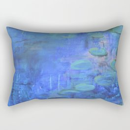 Waterlily Abstraction Rectangular Pillow