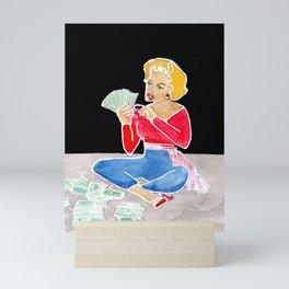 Counting My Money Mini Art Print