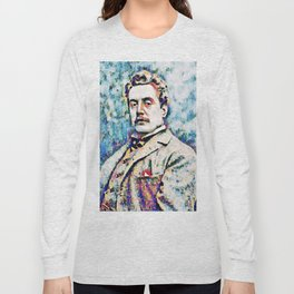 Giacomo Puccini (1858 – 1924) digitized photography Long Sleeve T-shirt