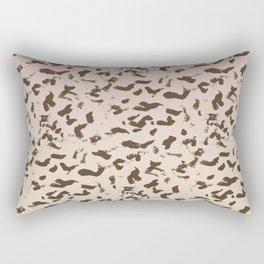 Pink Sand Animal Print Abstract Rectangular Pillow