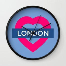 London Heart Wall Clock