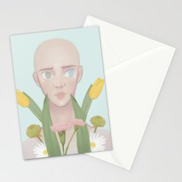 Flower Portrait// inspired by markus (detroit become human) Stationery Cards
