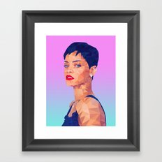 Rihanna LowPoly/ High Poly: Artists Collection Framed Art Print
