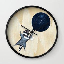 Raccoon Balloon Wall Clock