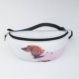 Red dachshund in winter Fanny Pack