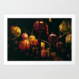 Korean Lanterns Art Print
