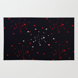 points rouges blancs  Rug