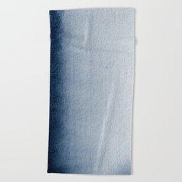 Indigo Vertical Blur Abstract Beach Towel