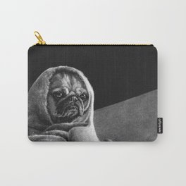 """Black and white puppers """"Grumpy"""" Carry-All Pouch"""